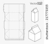 milk carton | Shutterstock .eps vector #217773355