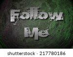 follow me concept text on... | Shutterstock . vector #217780186