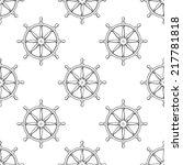 black vector marine helms...   Shutterstock .eps vector #217781818
