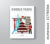 world travel business book...   Shutterstock .eps vector #217783366