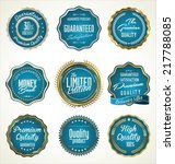 luxury gold and blue premium... | Shutterstock .eps vector #217788085
