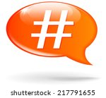 Vector Illustration Of Hashtag...