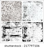 set of grunge patterns | Shutterstock . vector #217797106