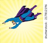 vector superhero flying | Shutterstock .eps vector #217812196