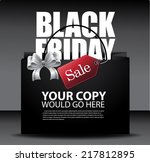 black friday sale design eps10... | Shutterstock .eps vector #217812895