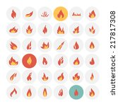 fire icons. vector illustration. | Shutterstock .eps vector #217817308