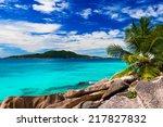 tropical beach. the seychelles | Shutterstock . vector #217827832