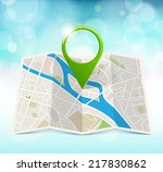 city map with marker | Shutterstock .eps vector #217830862