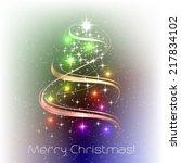 christmas vector illustration...   Shutterstock .eps vector #217834102
