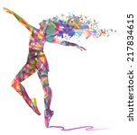 abstract dancing girl and... | Shutterstock .eps vector #217834615