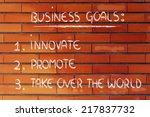list of goals for business