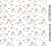 seamless pattern with little... | Shutterstock .eps vector #217853566