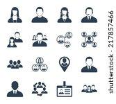 modern vector human resource ... | Shutterstock .eps vector #217857466
