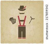 oktoberfest man with beer mug... | Shutterstock .eps vector #217859542