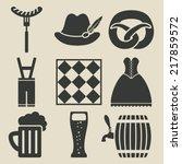 oktoberfest beer festival icons ... | Shutterstock .eps vector #217859572