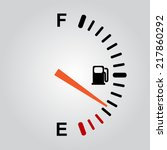 Fuel Gauge On Gray Background....