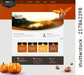 autumn theme website template