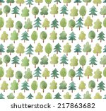 seamless cute pattern with... | Shutterstock .eps vector #217863682