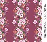flowers seamless garland | Shutterstock . vector #217870516