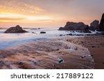 Stunning Sunset On The Beach A...