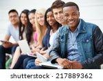 portrait of university students ... | Shutterstock . vector #217889362