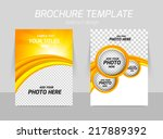 flyer template back and front... | Shutterstock .eps vector #217889392