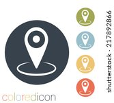 pin location on the map | Shutterstock .eps vector #217892866