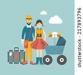 hipster family concept. vector... | Shutterstock .eps vector #217893796