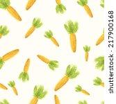 hand paint watercolor carrot... | Shutterstock .eps vector #217900168