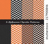Halloween Chevron In Orange ...