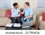woman and man sitting at the... | Shutterstock . vector #21790426