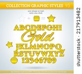 gold graphic styles for design.... | Shutterstock .eps vector #217913482