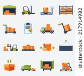 warehouse transportation and... | Shutterstock .eps vector #217914982