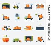 warehouse transportation and... | Shutterstock .eps vector #217914982