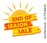 end of season sale banner  ... | Shutterstock .eps vector #217918642