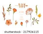 Watercolor Autumn Floral...