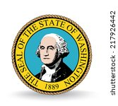 seal of the state of washington | Shutterstock .eps vector #217926442