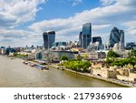 skyline of london with the... | Shutterstock . vector #217936906
