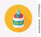 glue flat icon with long shadow ... | Shutterstock .eps vector #217949602