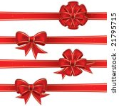 set from red christmas bows | Shutterstock .eps vector #21795715