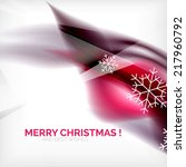 purple color christmas blurred... | Shutterstock .eps vector #217960792