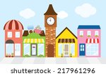 vector illustration of strip... | Shutterstock .eps vector #217961296