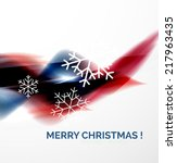 red color christmas blurred... | Shutterstock . vector #217963435
