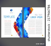 abstract vector template design ... | Shutterstock .eps vector #217966786