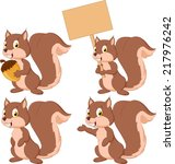 Cute Carton Squirrel Collectio...