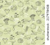 kitchen seamless pattern with a ... | Shutterstock .eps vector #217978438