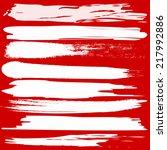 set of grunge brush strokes on... | Shutterstock . vector #217992886