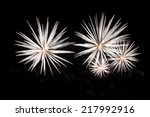 white fireworks isolated in... | Shutterstock . vector #217992916
