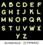 neon alphabet vector | Shutterstock .eps vector #217996942