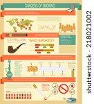 dangers of smoking ... | Shutterstock .eps vector #218021002